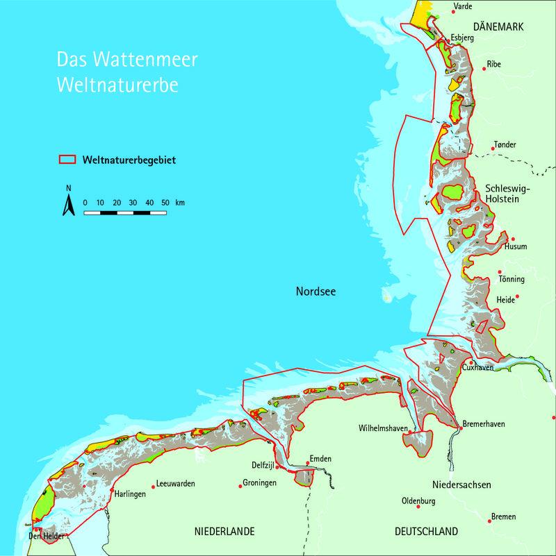 wattenmeer dänemark karte Karte: Weltnaturerbe Wattenmeer | Wadden Sea