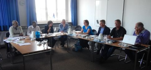 Delegates of UNESCO, Banc d'Arguin, National Park Niedersächsisches Wattenmeer and CWSS. Hacen el-Hacen.