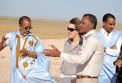 Maître Aly Ould Mohamed Salem & Fanny Douvere (middle). CWSS/ Lüerßen.
